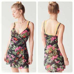 Urban Outfitters Out From Under Floral Wrap Dress